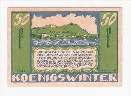 *notgeld  Konigswinter 50 Pf  730.4B/3 - [11] Emissions Locales