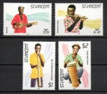 St. Vincent 1985 - Strumenti Musicali Tradizionali Traditional Musical Instruments MNH ** - St.Vincent (1979-...)