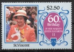 St. Vincent 1986 - Regina Elisabetta II Queen Elizabeth II MNH ** - St.Vincent (1979-...)