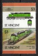 St. Vincent 1986 - Locomotive Ferroviarie Railway Locomotives Treni Trains MNH ** - St.Vincent (1979-...)