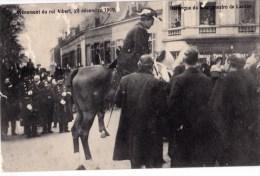AVENEMENT DU ROI ALBERT 23/12/1909 HARANGUE DU BOURGMESTRE DE LAEKEN - Manifestations