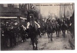 AVENEMENT DU ROI ALBERT 23/12/1909 LE CORTEGE EN COURS DE ROUTE - Manifestations