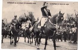 AVENEMENT DU ROI ALBERT 23/12/1909 CORTEGE EN COURS DE ROUTE - Manifestations