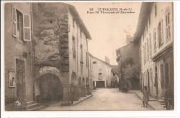 71 - CUISEAUX - Rue St Thomas Et Arcades - Francia