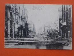 Cpa CHARLEROI Rue Charles II   Ruines Guerre - Charleroi