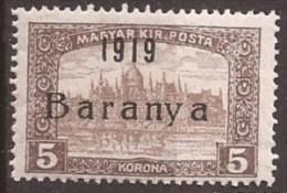 1919  18-34   BARANYA  UNGARN SERBIA JUGOSLAVIJA OVERPRINT  INTERESSANT  - TYP II NEVER HINGED - Baranya