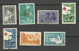 Vietnam Du Sud N°50,118,134,135,138,144,152 Cote 2.70 Euros - Vietnam