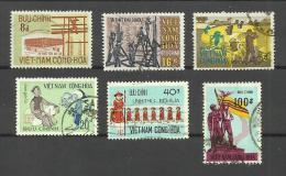 Vietnam Du Sud N°382,383,406,423,440,443 Cote 3.85 Euros - Vietnam