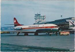KLOTEN FLUGHAFEN. Caravelle SWISSAIR (1965) - Aeródromos