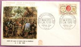 Premier Jour Traite D´Aix La Chapelle 1968 PHOTO RECTO VERSO - FDC