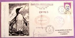 Courrier Posté à Bord Du Paquebot Mixte Marion Dufresne 1998 PHOTO RECTO VERSO - Cartas