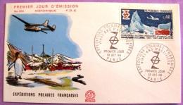 Premier Jour - Expéditions Polaires Françaises - Paris 1968 PHOTO RECTO VERSO - FDC