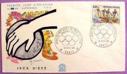 Premier Jour - Jeux Olympiques De Mexico 1968 - Paris PHOTO RECTO VERSO - FDC