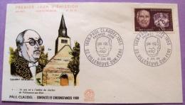 Premier Jour - Paul Claudel 1955 - De Villeneuve Sur Fere -  En 1968 - PHOTO RECTO VERSO - FDC