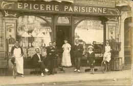 92 COURBEVOIE . CARTE-PHOTO , Maison Maillard , épicerie Parisienne , édit : Sans , écrite En 1911 , état Extra - Other Municipalities