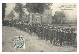 CPA - PASSY FROYENNES - Le Départ De La 3me Division Pour La Promenade   // - Tournai