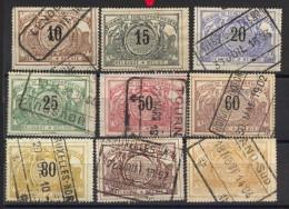 Mi.N° 15 - 23 Gestempelt, Die N° 16 Ist * Mit Dickem Falz, Der Katalogwert Nach Michel 2003 =22,40 Euro - Bahnwesen
