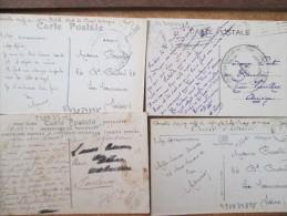 LOT DE 15 CPA ECRITES AVEC CACHET MILITAIRE - Postcards