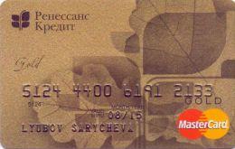 Bankcard Of Russia Renaissance Credit GOLD  ( MINT) - Geldkarten (Ablauf Min. 10 Jahre)