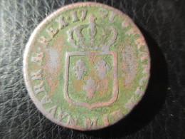 Louis XVI, Sol à L'Ecu, 1791 M, TB - 987-1789 Monnaies Royales
