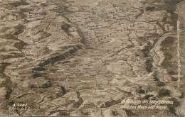 RELIEFKARTE DES KAMPFGEBIETES ZWISCHEN MAAS UND MOSEL - War 1914-18