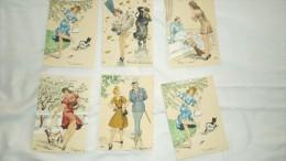 6 Cpa Barré & Dayez N° 624 De 1948 Signé BD Les Gros Mots Lot 1 - Altre Illustrazioni