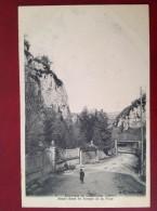 38 Isere CREMIEU (environs De) Route Dans Les Gorges De La FUSA - Crémieu