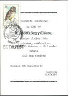 1694 Hungary SPM Organization Philately Bird Dove Envelope - Philatélie & Monnaies