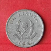 CONGO  1  LIKUTA  1967   KM# 8  -    (Nº11331) - Congo (Democratic Republic 1964-70)
