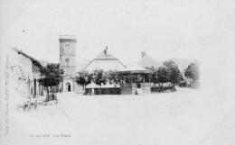 CPA - BUSSANG (88) - Aspect De La Place Avec Le Kiosque En 1900 - Arches