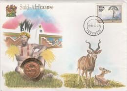 SUID AFRIKAANSE AFRIQUE DU SUD FDC TIMBRE + MONNAIE 28/2/1990 +TIMBRE NATIONS UNIES   TDA44 - FDC