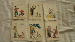 6 Cpa Barré & Dayez N° 580 De 1946 Signé BD Serie Le Tabac Illustrateur R. Genestre - Altre Illustrazioni