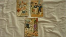 3 Cpa Barré & Dayez N° 559 De 1945 Signé BD Serie Nos Marins Illustrateur Jack - Altre Illustrazioni