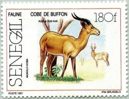 N° Michel 1129 (N° Yvert 904) - Timbre Du Senegal (1991) - (MNH) - Kob (Kobus Kob) Of Niokolo-Koba (JS) - Sénégal (1960-...)