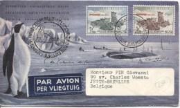 TP 1030/1031 S/L.Avion Expédition Belge Pole Sud En 1958 V.Bruxelles Curiosité Au TP 1030 PR1796 - Expéditions Antarctiques