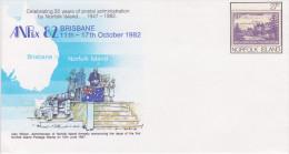 Carte Lettre Celebrating 35 Years Of Postal Administration Anpex Brisbane 1982 - Norfolk Island