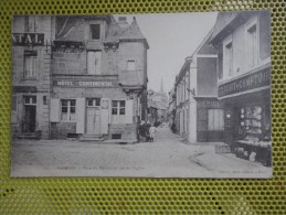 CPA 22 PAIMPOL PLACE MARTROY HOTEL CONTINENTAL EPICERIE COMMERCE - Paimpol