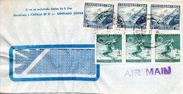 CHILI. N°309 De 1965 Sur Enveloppe Ayant Circulé. Ski. - Skiing
