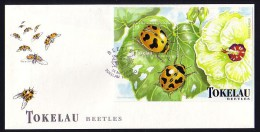 Tokelau, Scott #259, S/sht, Ladybugs Issue, First Day Cover - Insects
