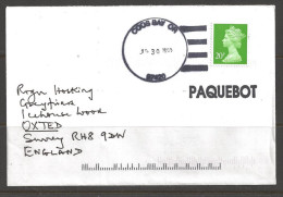 1993 Paquebot Cover, British Stamp Used In Coos Bay, Oregon (Jul 30) - Lettres & Documents