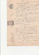 CITATION A COMPARAITRE A LA DEMANDE DU PROCUREUR D'ALGER DE 2 TEMOINS DANS UNE AFFAIRE DE MEURTRE-1877 - Cachets Généralité