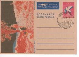 LIECHTENSTEIN   1987  PAP CARTE POSTALE PAR AVION 03 02 1987 TTB - Air Post