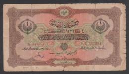 Turkey, Ottoman  Empire, 4 Feb. AH1332, 1 Livre ,VG. - Turkey