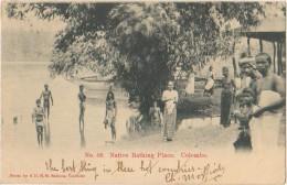 CPA CEYLAN CEYLON COLOMBO Native Bathing Place Timbre Stamp 1905 - Sri Lanka (Ceylon)