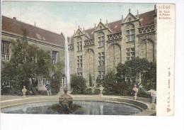CP Liège 2e Cour Du Palais De Justice DTC, L Vers 1905 Couleurs Très Rare - Liege