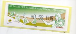 2014 LISA 1 / 68ème SPA PARIS /LETTRE VERTE - 2010-... Illustrated Franking Labels