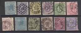 12 Alt - Belgien Marken Dabei Ein Schöner Stempelabschlag Von Der MONS- STATION (?)-vom 13 Juin, 1x 10 Cent- Vom 4. Dec1 - 1884-1891 Leopold II.