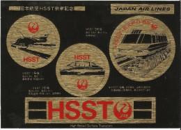 MAGLEV - Autocollants Train Magnétique HSST 3  EXPO 85 Tsukuba, Japon - High Speed Surface Train JAL - Japan Air Lines - Ferrovie