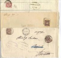 TZ548A - REGNO Sei Sovracoperte Di Lettera Con Diverse Affrancature - 1878-00 Umberto I
