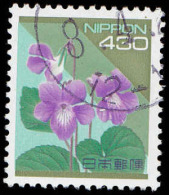 Japan Scott #2167A, 430y multicolored (1992) Violet, Used